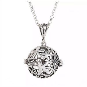 Harmony bell cage silver locket angel caller new